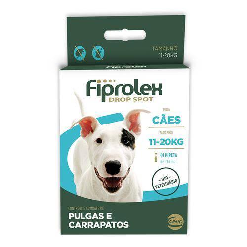 Antipulgas-E-Carrapatos-Ceva-Fiprolex-Drop-Spot-De-134-Ml-Para-Cães-De-11-A-20-Kg