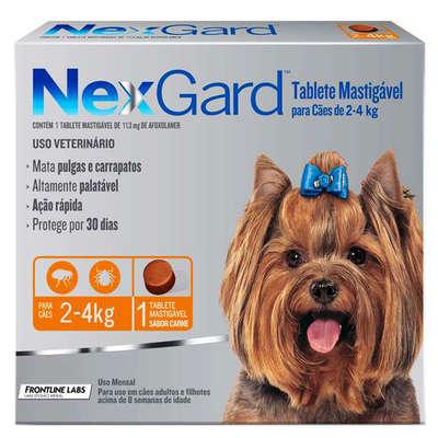 Anti-Pulgas-e-Carrapatos-Merial-NexGard-11 3-mg-Cães-de-2-a-4-Kg