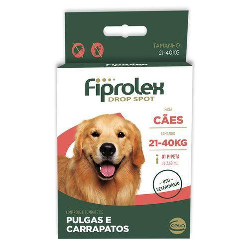 Antipulgas-E-Carrapatos-Ceva-Fiprolex-Drop-Spot-De-268-Ml-Para-Cães-De-21-A-40-Kg